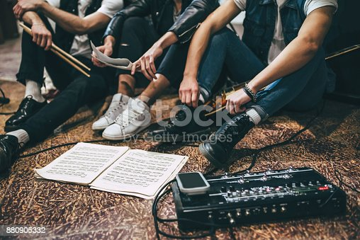 istock Repetition of rock music band. 880905332