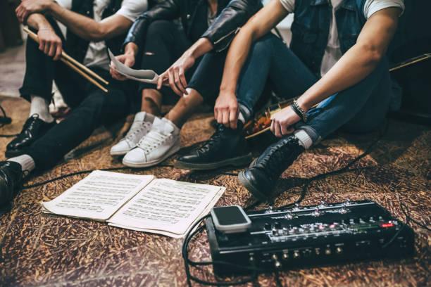 Wiederholung der Rock-Musik-Band. – Foto