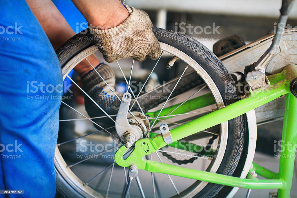 replacement bicycle wheels stock photo