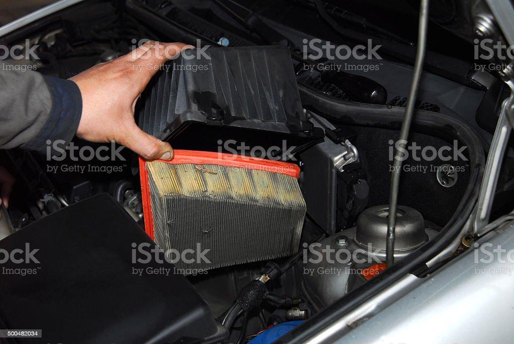 Erneuerung des air filter – Foto