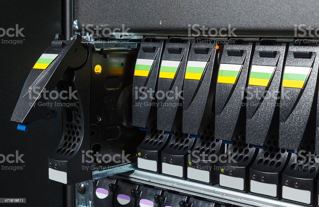 replacing a failed hard drive royalty-free stock photo