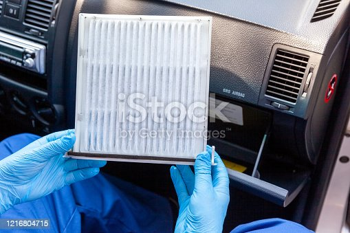 Replacing cabin pollen air filter for a car