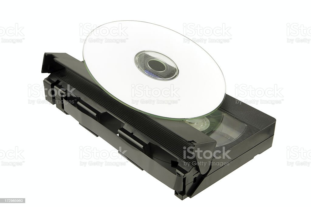 DVD replacing tape royalty-free stock photo