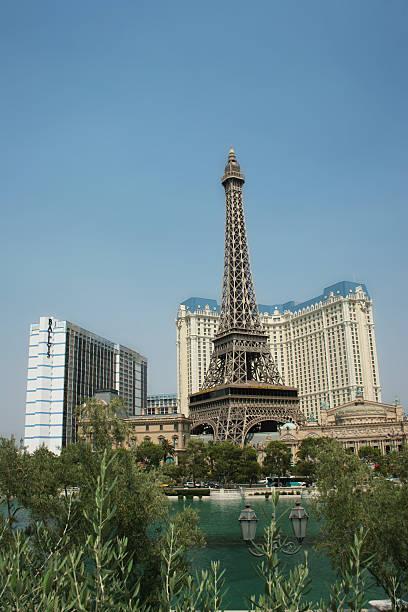 Replica Eiffel Tower Paris Las Vegas and The Ballys stock photo