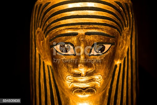 istock Replica model of an ancient Egyptian pharoah sarcophagus 534505635