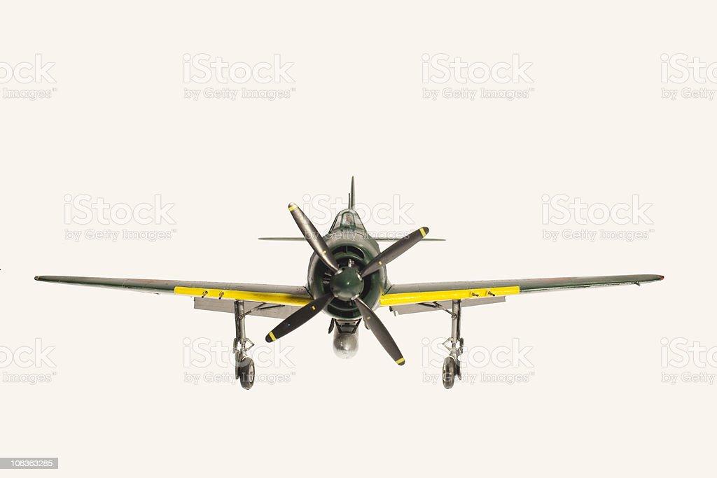 replica model of WW2 Japanese airplane stock photo