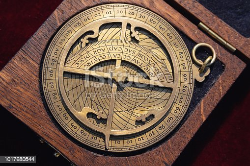 istock Replica of a medieval astrolabe which is a navigation instrument 1017680544