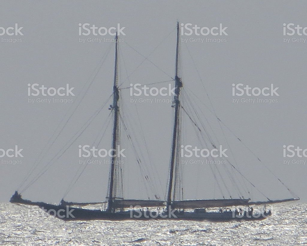 Replica of Columbia Schooner Feb 21 2015 stock photo
