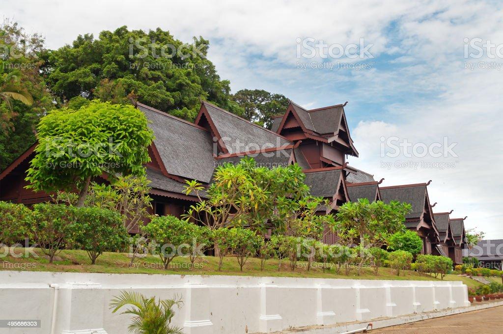Replica of Melaka's Sultante Palace royalty-free stock photo