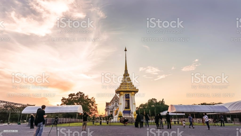 Replica of Royal Crematorium for His Majesty King Bhumibol Adulyadej stock photo