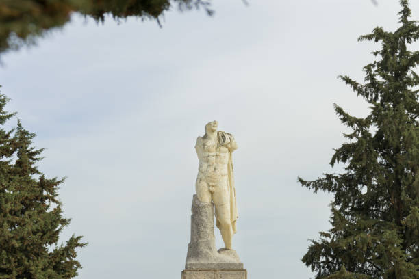 Replica of the heroic sculpture of Trajan in Itálica Replica of the heroic sculpture of Trajan in Itálica, Santiponce, Spain, March 2, 2019 antecedence stock pictures, royalty-free photos & images
