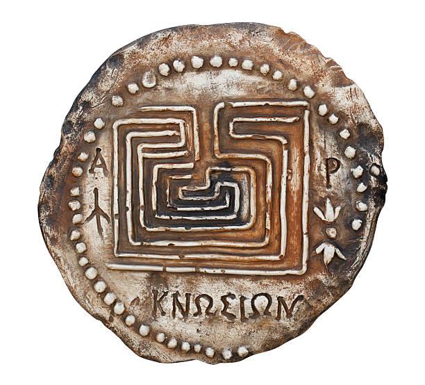 Replica of the most ancient Cretan coin stock photo