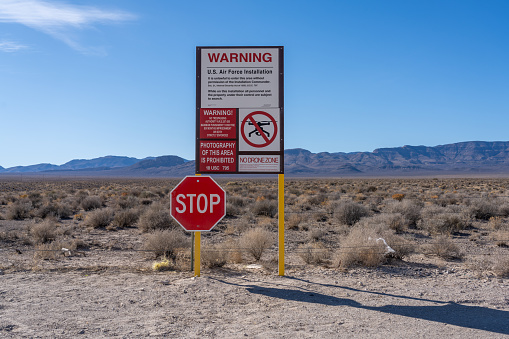 Sign at Area 51