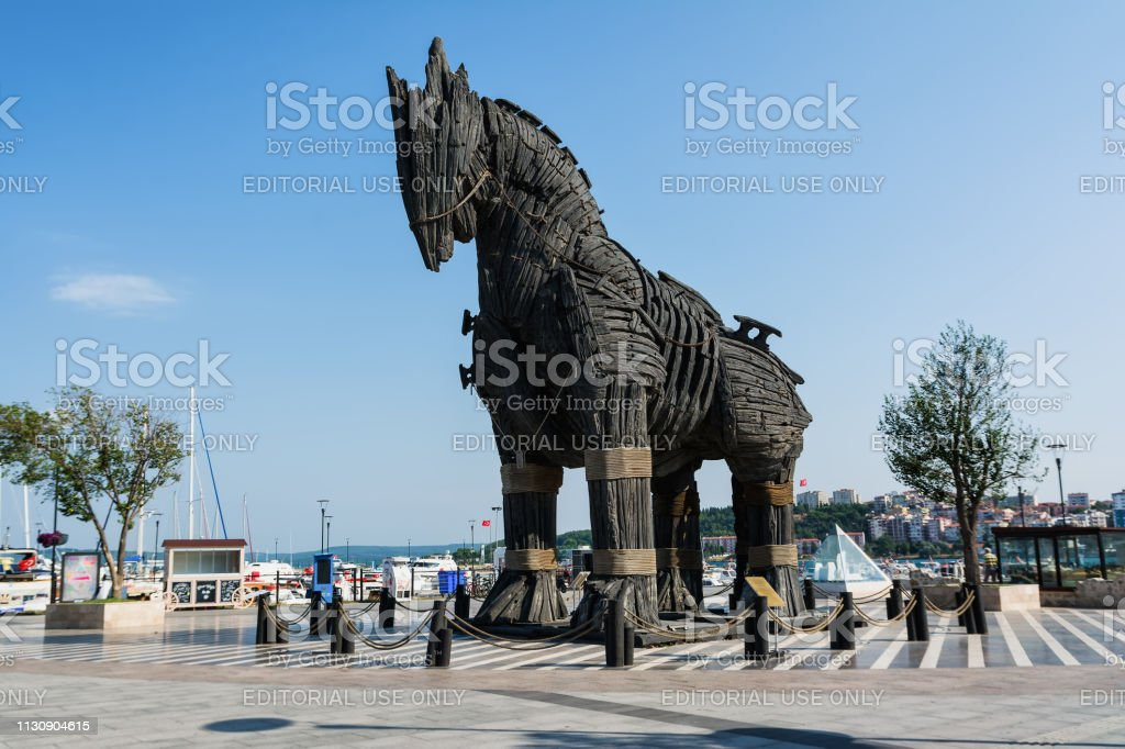 Replica Of Trojan Horse Canakkale Waterfront Dardanelles Turkeythe Trojan Horse From The Trojan War That The Greeks Used To Enter The Independent City Of Troy And Win The War The Wooden Horse