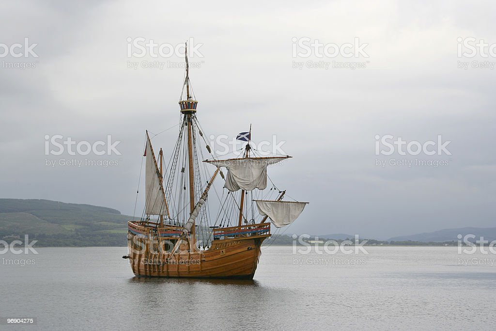 replica ship royalty-free stock photo
