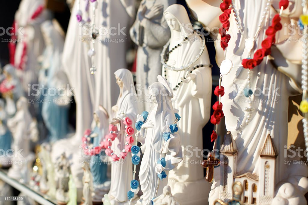 Replicas of Virgin Mary royalty-free stock photo