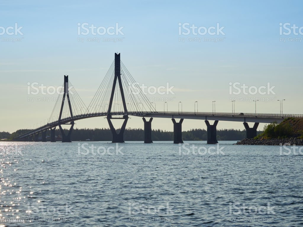 Replot Bridge on summer evening light stock photo