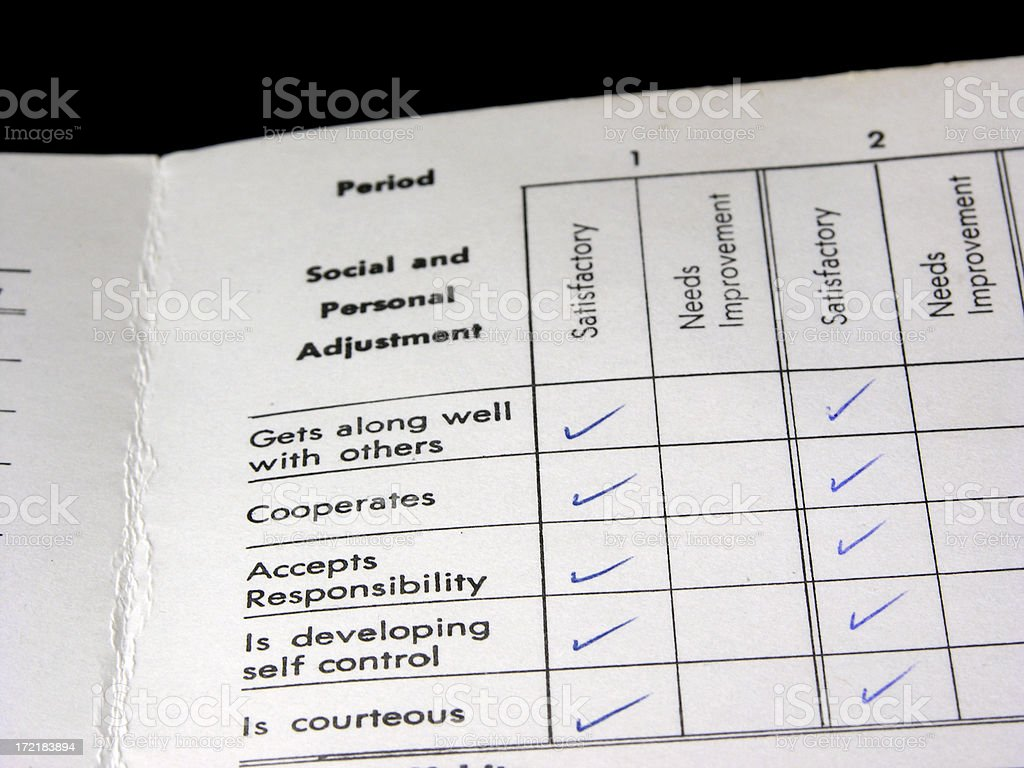 Report card - adjustment royalty-free stock photo