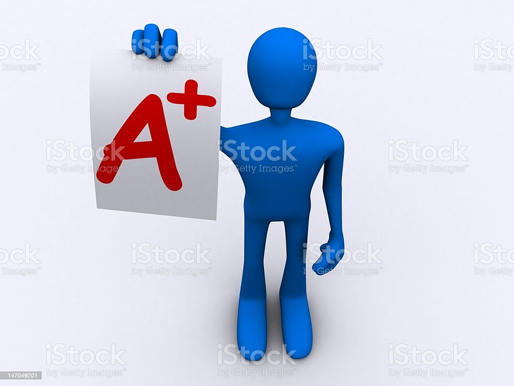 A+ Report Card royalty-free stock photo