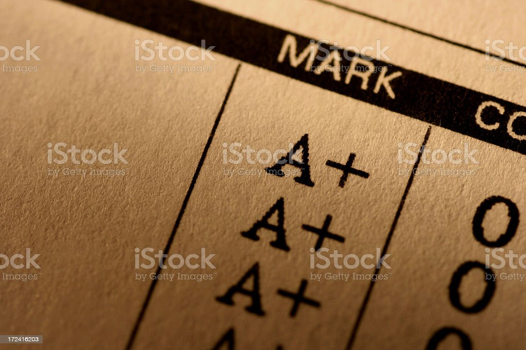 Report Card stock photo