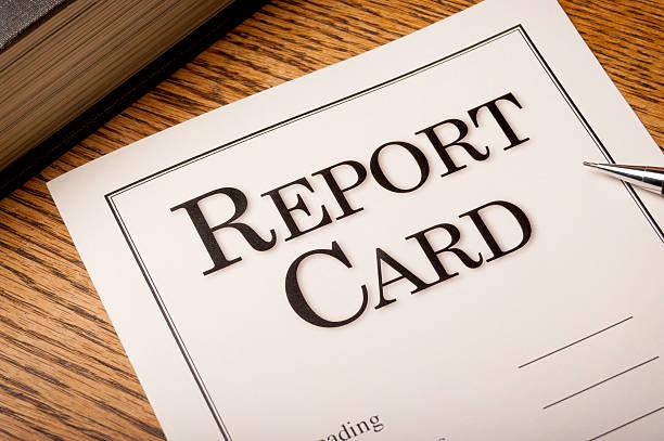 report card - kindergeldantrag stock-fotos und bilder