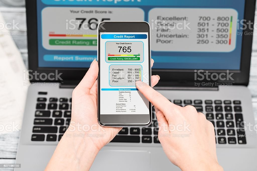 report credit score banking borrowing application risk form stock photo