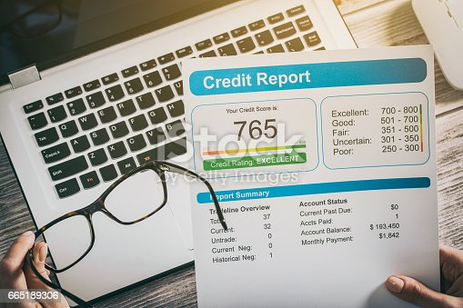 istock report credit score banking borrowing application risk form 665189306