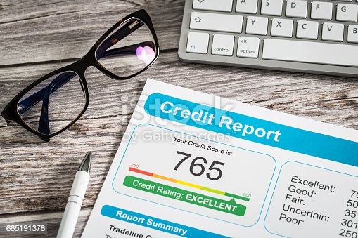 istock report credit score banking borrowing application risk form 665191378