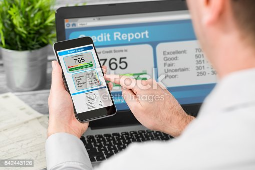 istock report credit score banking borrowing application risk form 842443126