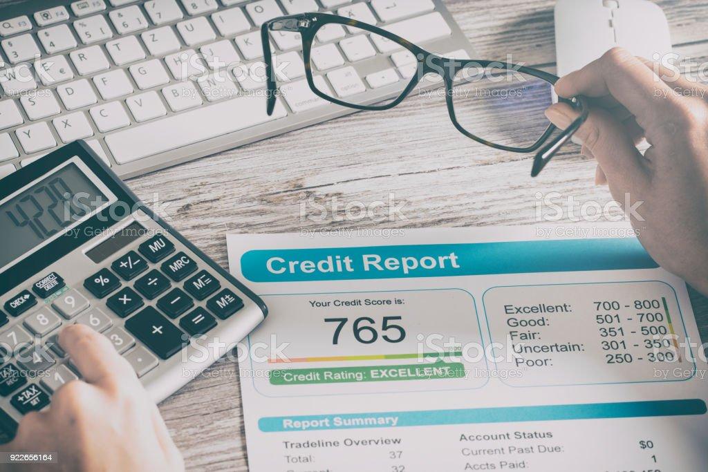 Bericht credit Score Banken leihen Risiko Antragsformular – Foto