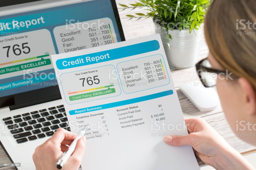 Bericht Credit Score Banken Leihen Risiko Antragsformular