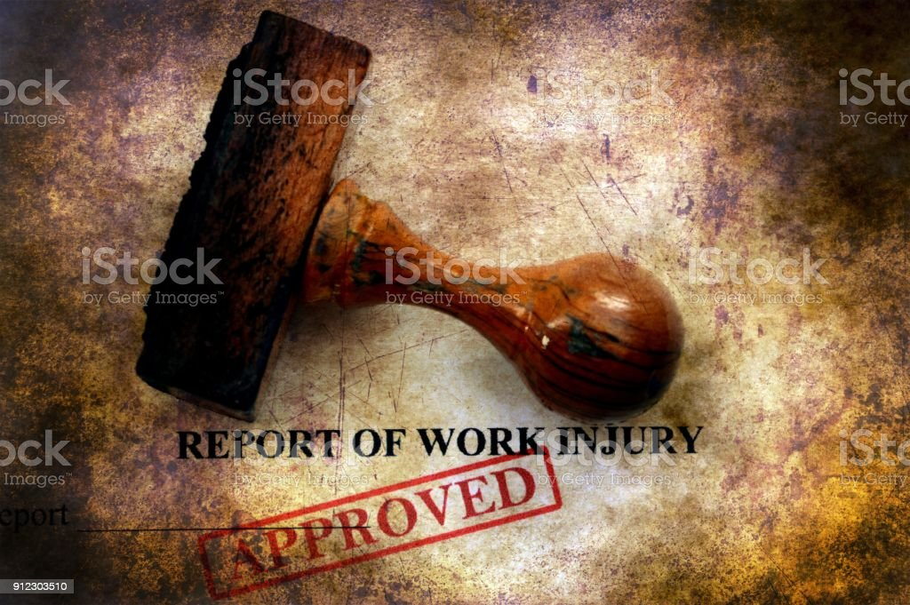 Report of work injury approved stock photo