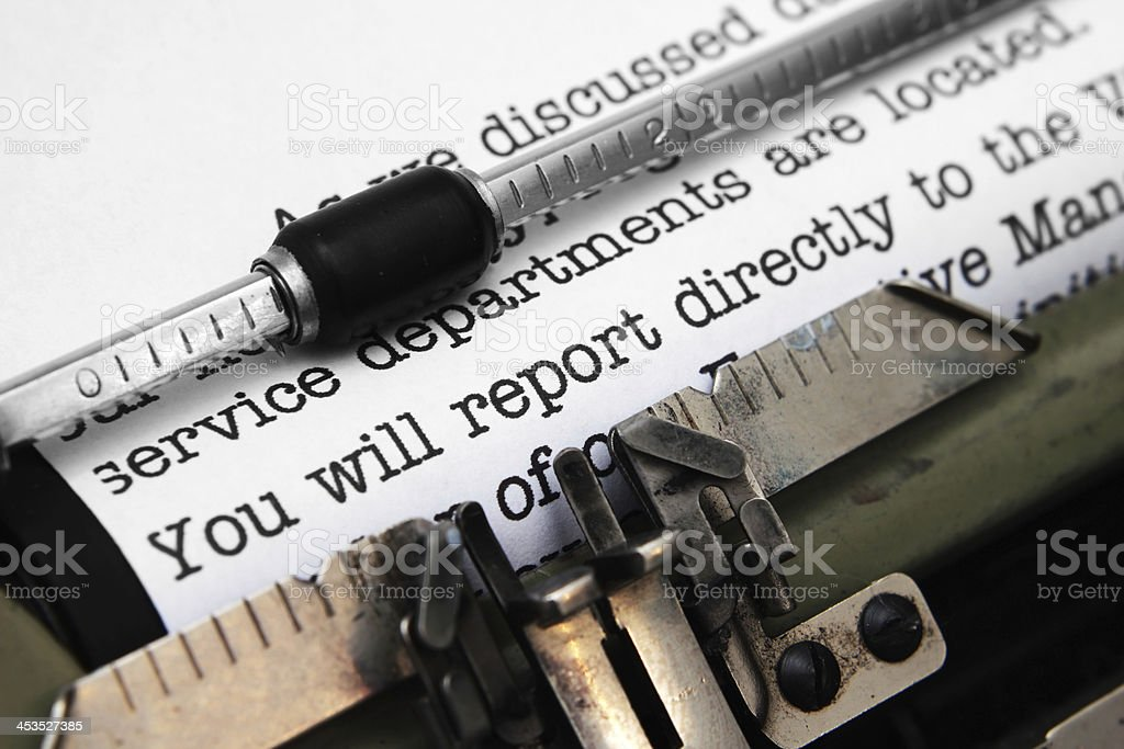Report royalty-free stock photo