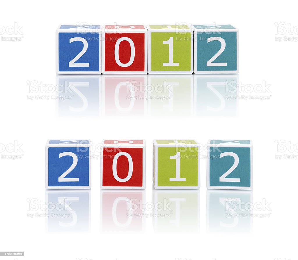 Report Topics With Color Blocks. 2012. royalty-free stock photo