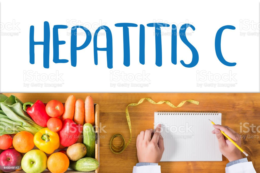 HEPATITIS C   Report with Composition of Medicaments   Medical stock photo