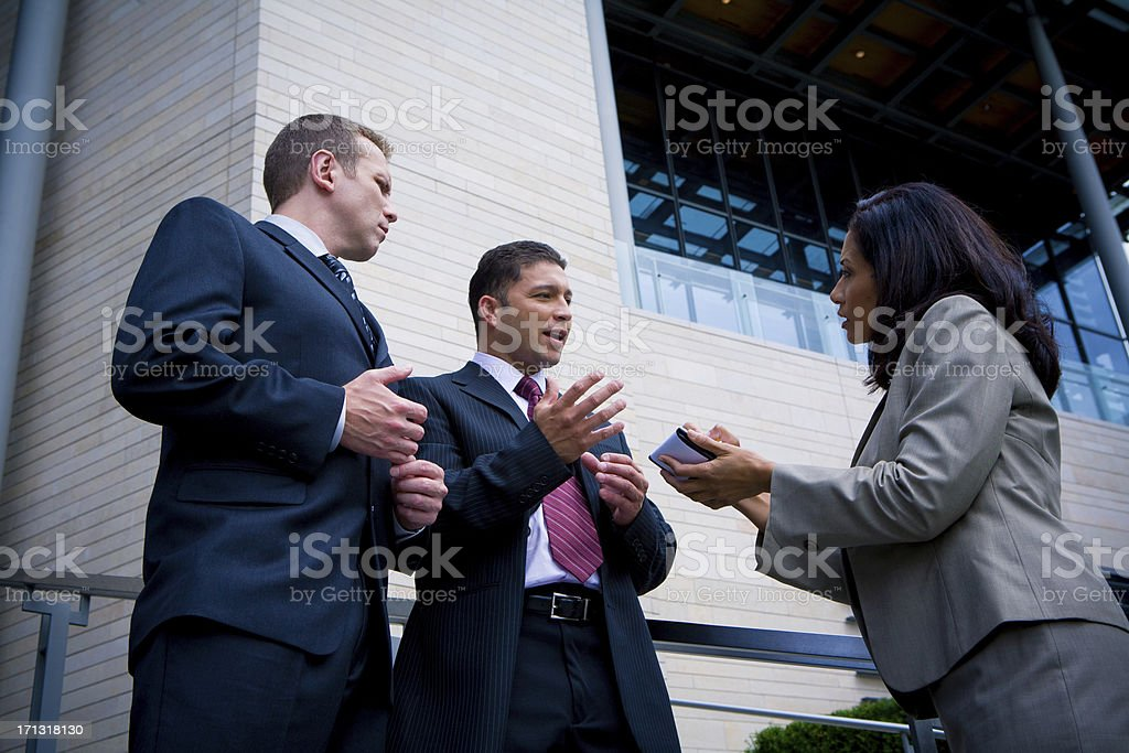 Reporter Interview royalty-free stock photo