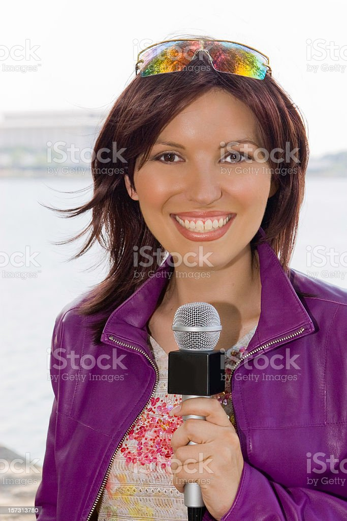 TV Reporter royalty-free stock photo