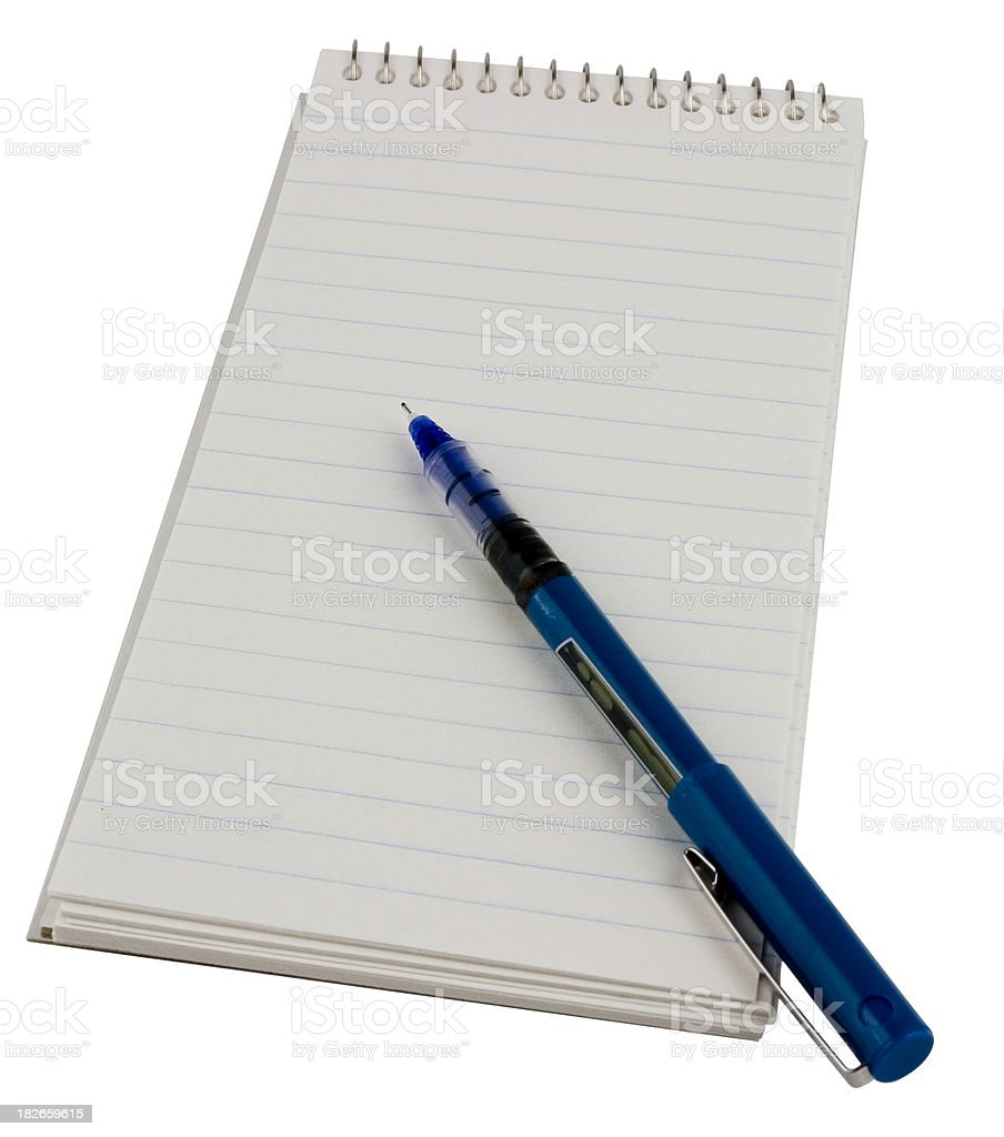 reporter's notebook royalty-free stock photo