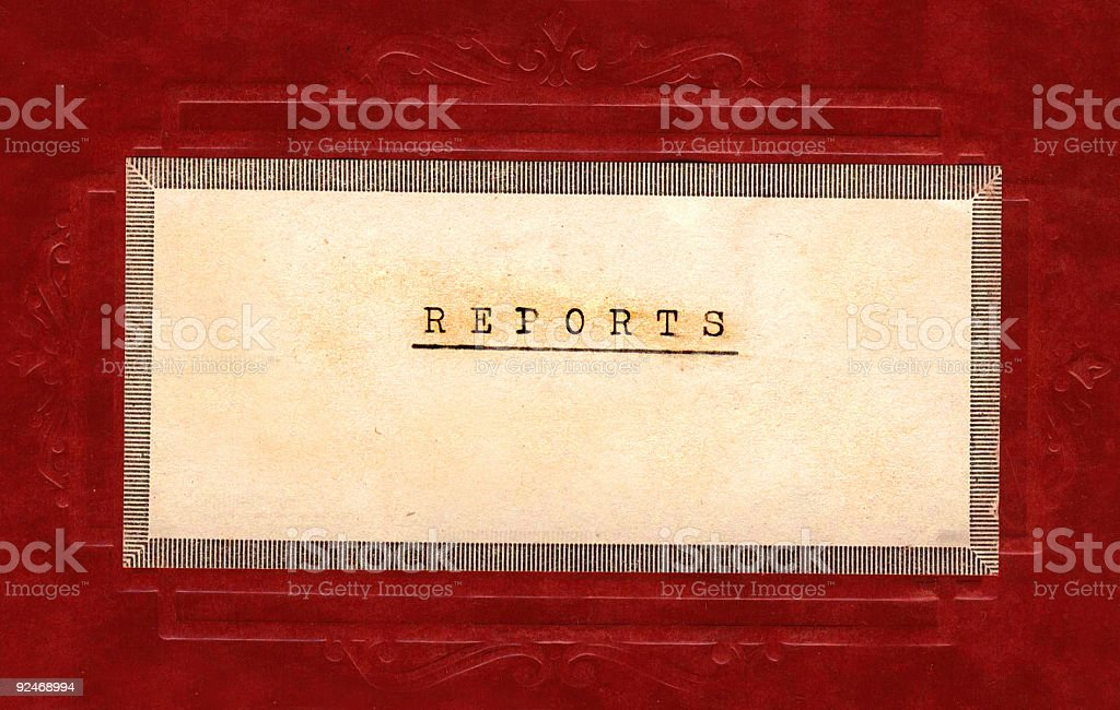 Reports royalty-free stock photo