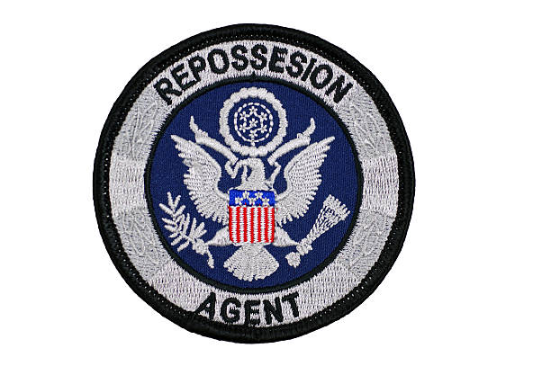 Repossession Agent Patch stock photo