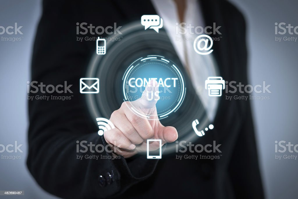 Representation of digital communication channels stock photo