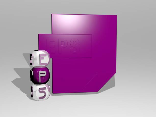 壁にアイコンを持つepsの3d表現とコンセプトの意味とスライドショーのプレゼンテーションのために鏡床に金属立方文字で配置されたテキスト。イラストとデザイン - business icon eps ストックフォトと画像