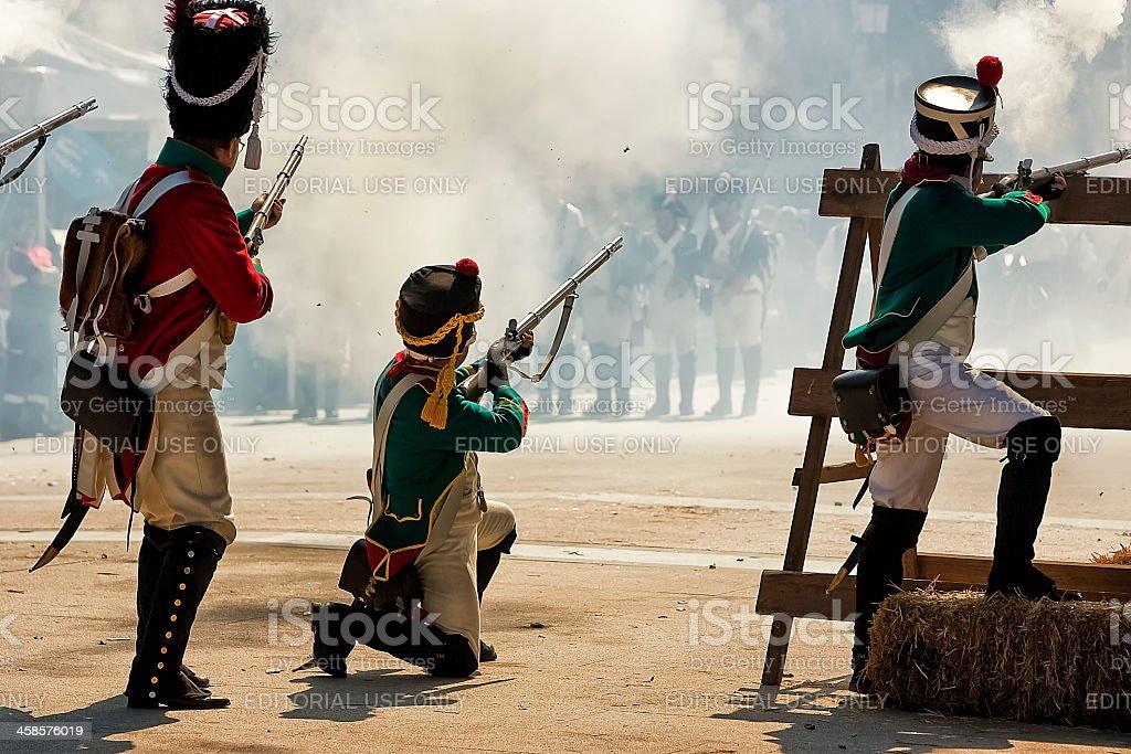Representation the Battle of Bailen stock photo