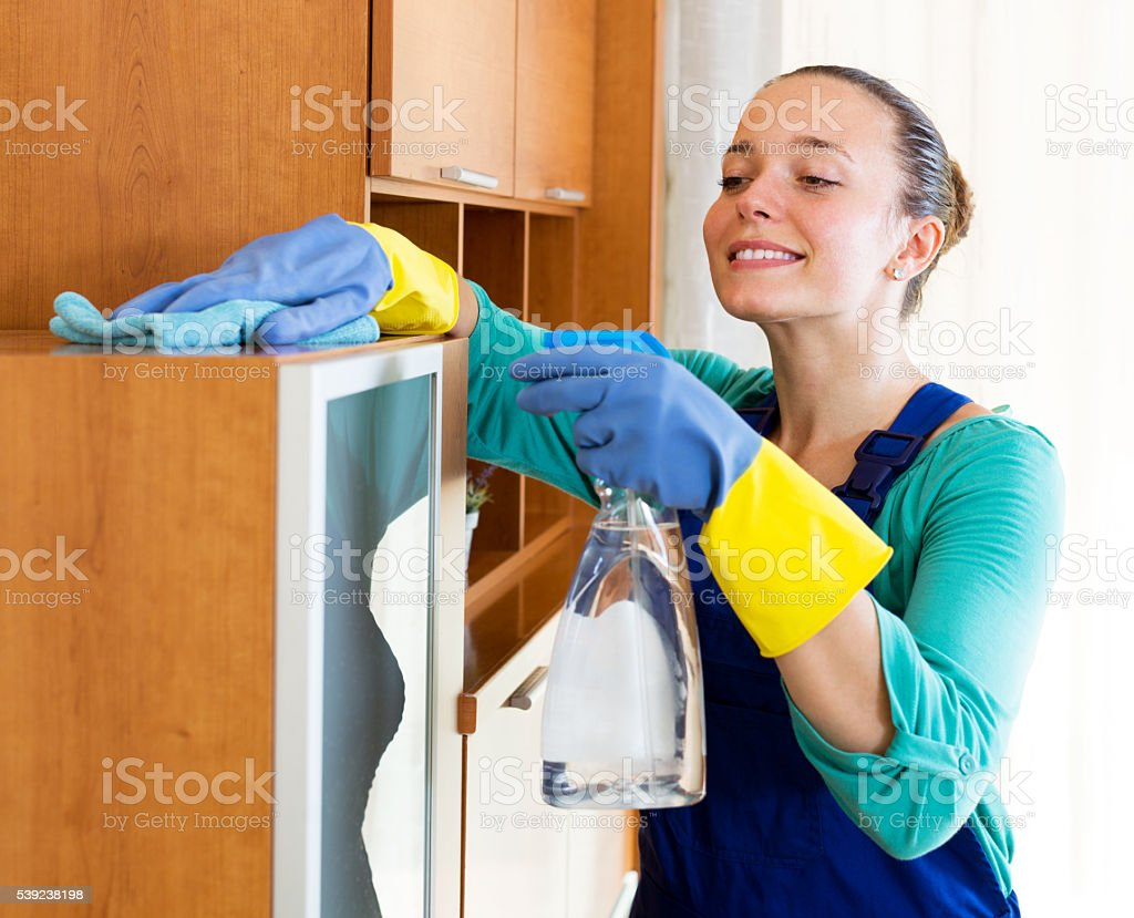 representative of a cleaning company royalty-free stock photo