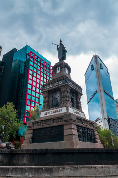 Representative sculpture in Mexico stock photo