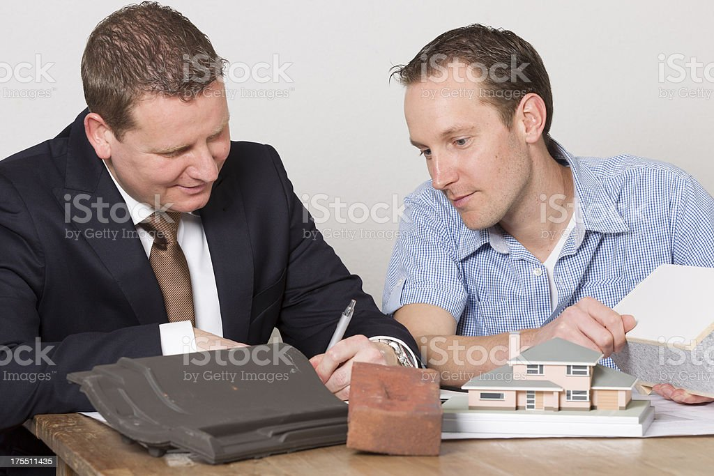 Representative selling contruction materials royalty-free stock photo