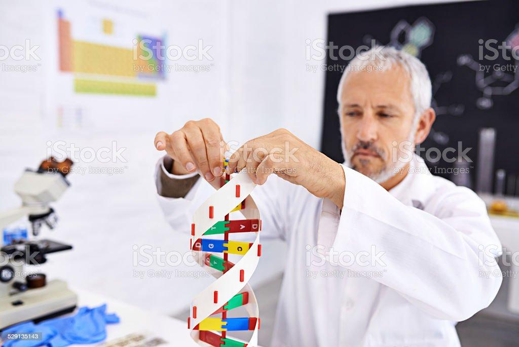 Representing human DNA stock photo