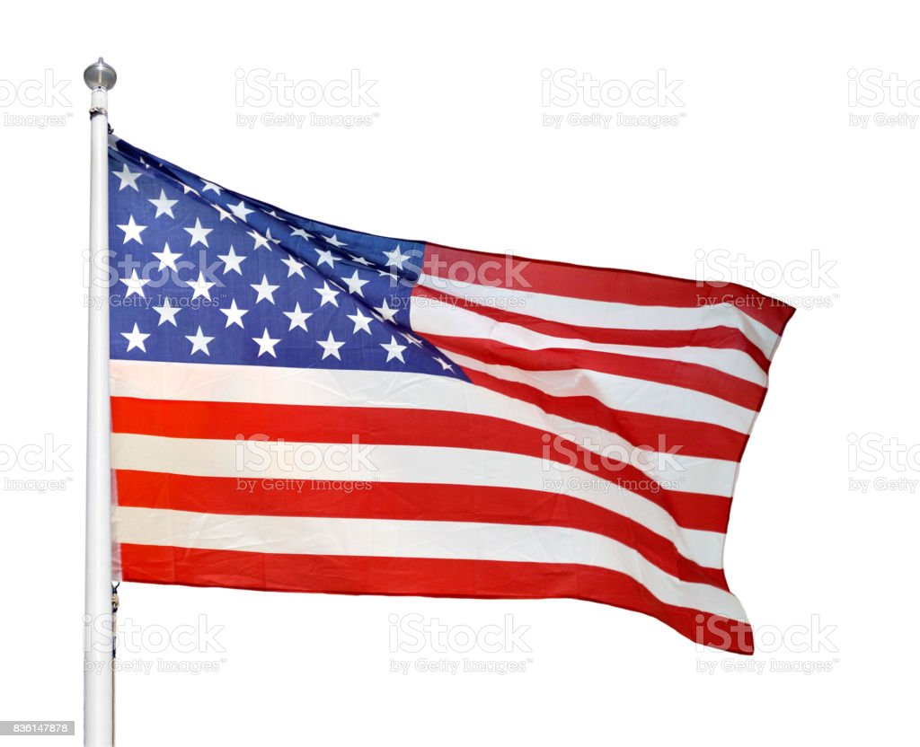 Representing the United States stock photo
