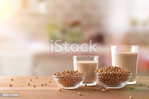 887350996 istock photo Reptientes with soy milk and grains in rustic kitchen front 945475050
