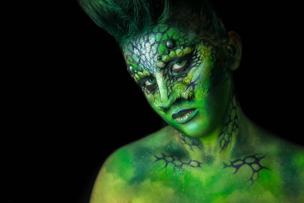 Reptilian Alien Girl stock photo